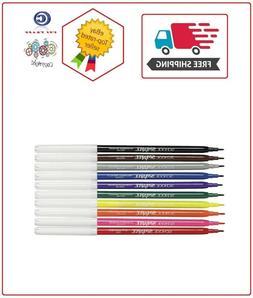School Smart Non-Toxic Washable Marker, Fine Tip, Assorted C