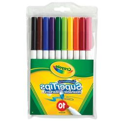 Crayola Non-Toxic Washable Marker Set, Super Tip, Assorted C