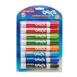 EXPO 1743032  Low-Odor Dry Erase Markers, Chisel Tip, Fashio
