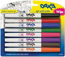 EXPO 1884309 Low-Odor Dry Erase Markers, Ultra Fine Tip, Ass