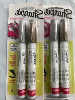 Sharpie Oil Based Paint Markers Metallic Medium 2 Pack Gold