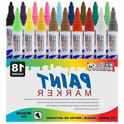 Set Of 18 Color Oil Based Paint Pen Markers Permanent Ink gr