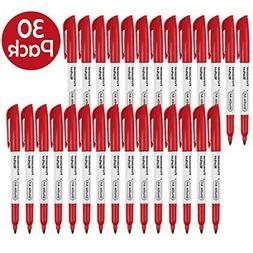 Shuttle Art Oil pen Marker pen set Red Fine Red 30 Quick-dry