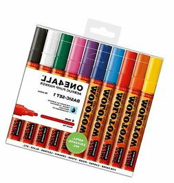 Molotow ONE4ALL Acrylic Paint Marker Set, 10 Basic Colors #1
