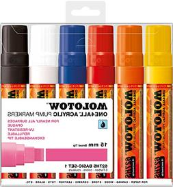 Molotow ONE4ALL Acrylic Paint Marker Set, 6 Basic Colors #1,