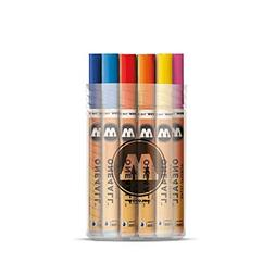 Molotow ONE4ALL Acrylic Paint Marker Set, 1mm and 2mm, Assor