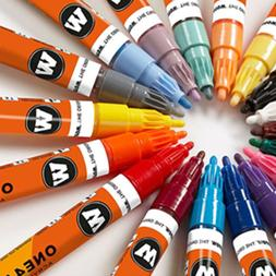 Molotow ONE4ALL Acrylic Paint Markers, 2mm 20 Colors - Choos