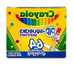 OpenBox Crayola 58-8764 Washable Marker, Assorted, 64 count
