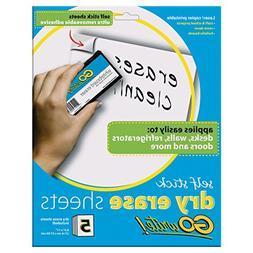 "Pacon INVAS8511 GoWrite! Self Stick Dry-Erase Sheets, 8.5"" x"