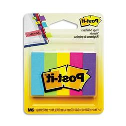 Post-it® Page Markers, 1/2-inch x 1-3/4 Inch, Ideal for Tem