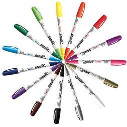 Sharpie Paint Marker Pen Oil Based Fine Point 15 Color Ultim