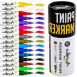 Acrylico Markers Paint Pens | 16 Vibrant Acrylic Markers Ext