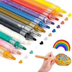 Paint Pens for Rocks Painting, Ceramic, Glass, Wood, Fabric,