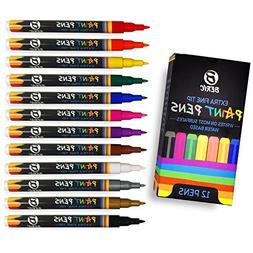 Premium Paint Pens Water-based Vibrant Colors Extra Fine Poi