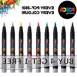 Posca PCF-350 Paint Markers Art Pens - Brush Tip - All Colou