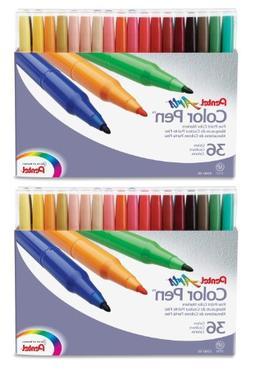 Pentel Color Pen Marker Set, Set of 36 Assorted Colors  2 Pa