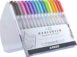 Zebra Pen Mildliner, Double Ended Highlighter, Broad and Fin