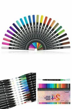 Pens & Colored Brush Markers Dual Tip Art Marker Pens Fine P