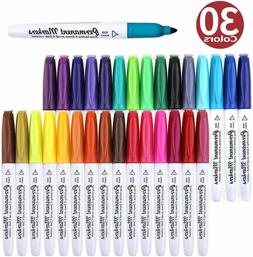 Permanent Marker, 30 Colors Fine Point Permanent Markers by