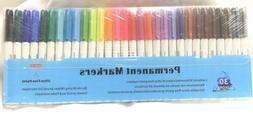 Shuttle Art Permanent Markers 30 Assorted Colors Ultra-Fine