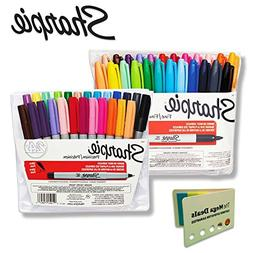 Sharpie Permanent Markers, Assorted Colors, 24 Fine Point Ma