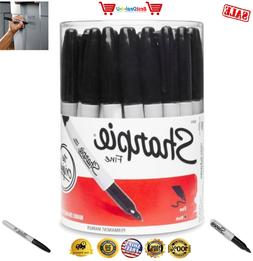 Sharpie 1884739 Permanent Markers Fine Point Black - 36 Piec