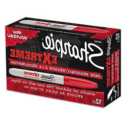 Sharpie Extreme Permanent Markers, 12-Pack, Red