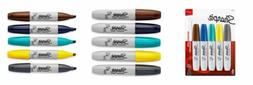 Sharpie Permanent Markers, Chisel Tip, Black, 4 Count