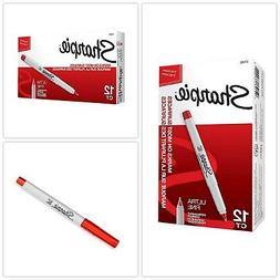 Permanent Markers Ultra Fine Point Red 12 Count Writing Corr