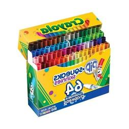 Crayola Pip-Squeaks Skinnies Washable Markers, 64 Colors, 64