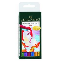 Faber-Castell Pitt Artist Brush Pen Set basic set of 6