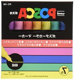 Uni Posca Paint Marker Pen, Extra Fine Point, Set of 7 Natur