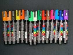 uni Posca Paint Marker Pen - Medium Point - Set of 15  - No