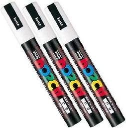 Uni Posca Paint Marker Pen PC-5M , Medium Point, White Ink,