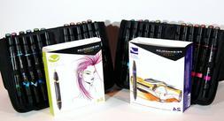 premier 24 pc art markers set brush