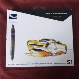 Prismacolor Premier Art Markers 12 Set Chisel/Fine Tip New S