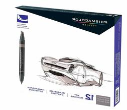 Prismacolor Premier Double-Ended Art Markers, Fine and Chise