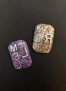 Pretty Glitter Xray Markers Rectangle Initials