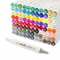 Professional Art Markers Dual Tip 88 Colors Shuttle Art Perm