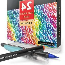Arteza Real Brush Pens 24Colors Watercolor Markers Set of 24