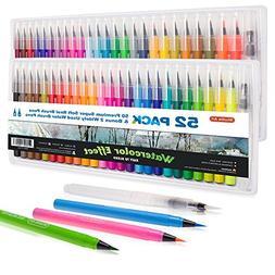 real watercolor brush pens