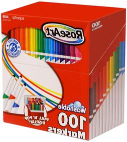 roseart supertip assorted color washable markers 100