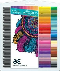 RoseArt Ultimate Artist Supertip Markers, 36 count