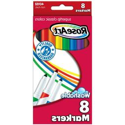 RoseArt Washable Classic SuperTip Markers 8-Count Packaging