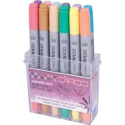 Copic Markers Ciao Stamping Soft Pastels Marker, 12-Piece Se