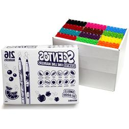 Scentos - Scented Fine Line Markers - 216 Markers - Washable