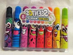 Scentos Scented Markers Pen Art Craft Supplies 8 Pack #13026