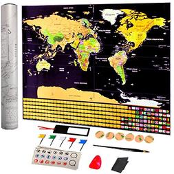 "Scratch Off World Map Poster of Ohuhu - 32.5"" x 23.4"" with U"