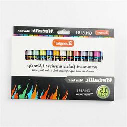Set Metal Color Oil Based Paint Marker Pens DIY Painting Art