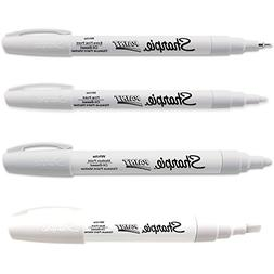 Sharpie Paint Marker Oil Based White All Sizes Kit with Ex F